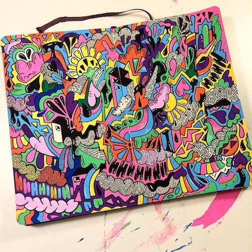 Tumblr of the Week: Miss Wearer's Rainbow POP Sketchbooks | Doodlers Anonymous