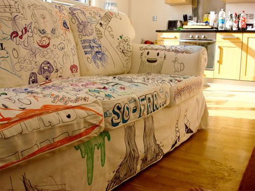 A Sofa Collaboration | Doodlers Anonymous