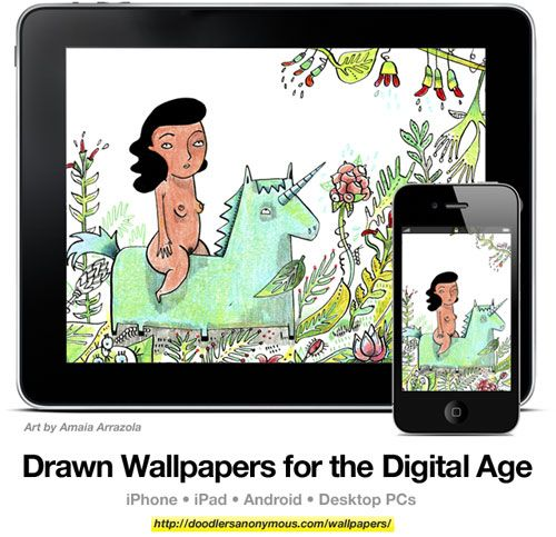 Drawn Wallpapers for the Digital Age: Art by Amaia Arrazola, #5 | Doodlers Anonymous