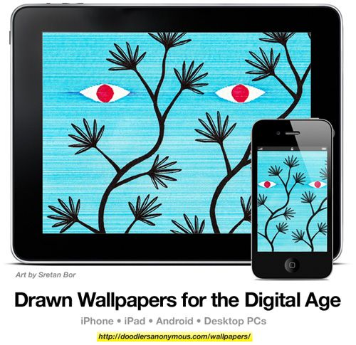 Drawn Wallpapers for the Digital Age: Art by Sretan Bor, #6 | Doodlers Anonymous