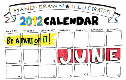Showcase #9: June Calendar Draw | Doodlers Anonymous