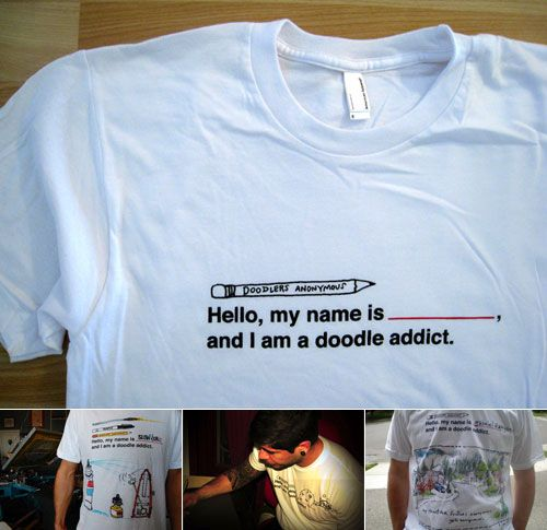 The Doodle Addict T-Shirt | Doodlers Anonymous