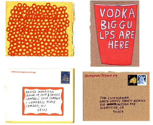 Anonymous Postcard | Doodlers Anonymous