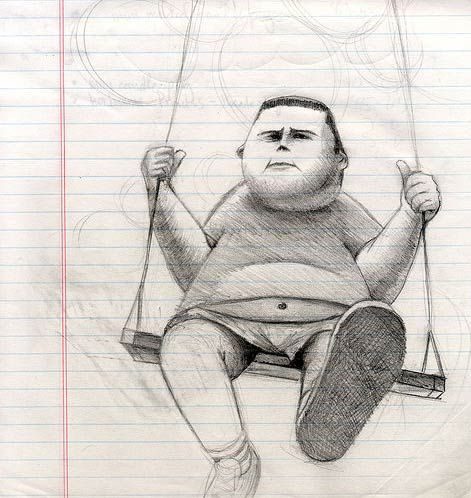 Chubby Swinger Kid | Doodlers Anonymous