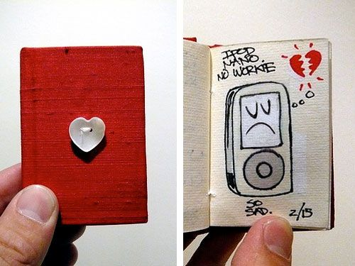 A Tiny Red Book of Love | Doodlers Anonymous