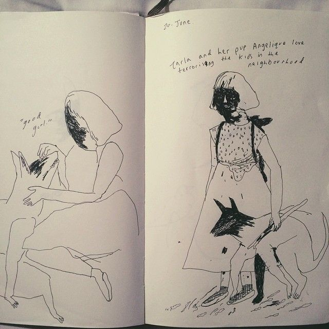 Laura Janey Hodkin: Girls in Her Sketchbook | Doodlers Anonymous