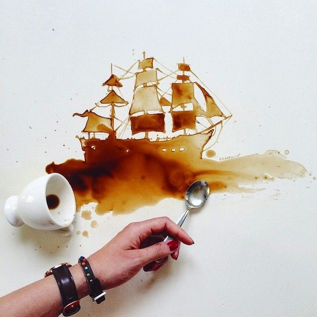 Don't Cry Over Spilled Coffee — Doodle Over It! | Doodlers Anonymous