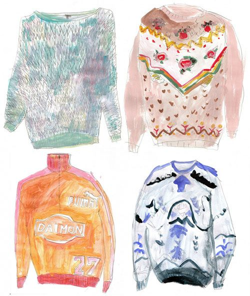 My Really Loud Sweater Collection | Doodlers Anonymous