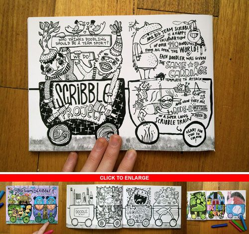 GIVEAWAY: The BIG Team Colouring Book! | Doodlers Anonymous