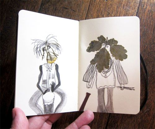 Sketching with Found Leaves | Doodlers Anonymous