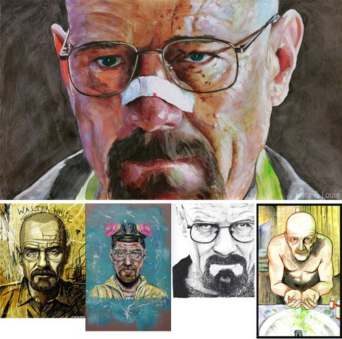 The Many Faces of Walter White | Doodlers Anonymous