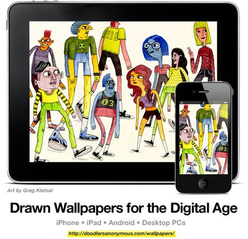 Drawn Wallpapers for the Digital Age: Art by Greg Kletsel, #8 | Doodlers Anonymous