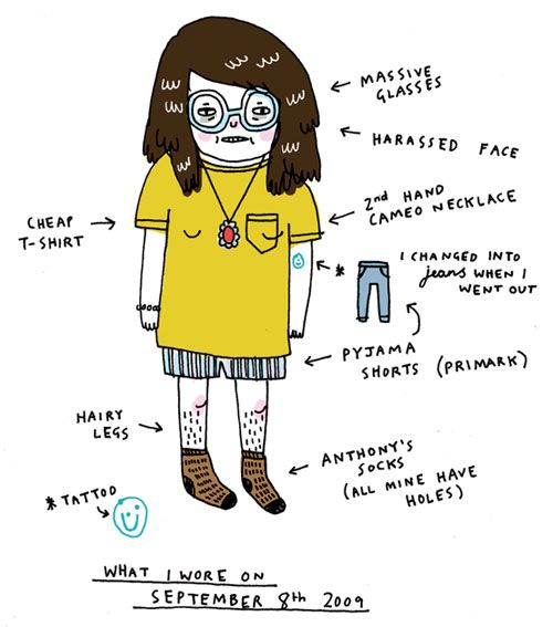 What She Wore Today | Doodlers Anonymous