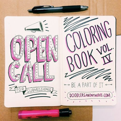 Open Call / Coloring Book Vol. 4 | Doodlers Anonymous