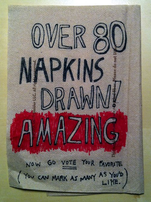 Showcase #1: The Gallery of Napkin Doodles | Doodlers Anonymous