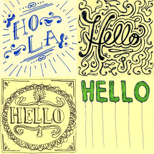 Say Draw Hello | Doodlers Anonymous