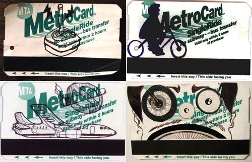 MetroCard Doodles | Doodlers Anonymous