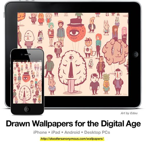 Drawn Wallpapers for the Digital Age: Art by Edau, #9 | Doodlers Anonymous