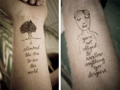 Temporary Tattoo Doodles | Doodlers Anonymous