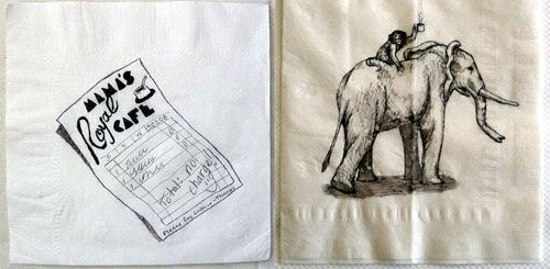 Mama's Annual Napkin Doodle Contest | Doodlers Anonymous