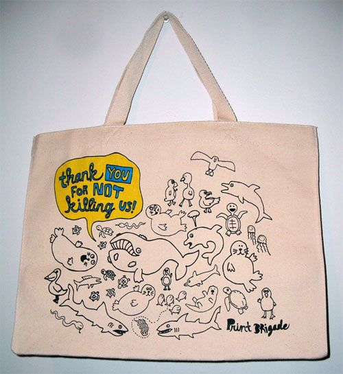 Giveaway: Print Brigade Tote Bag | Doodlers Anonymous
