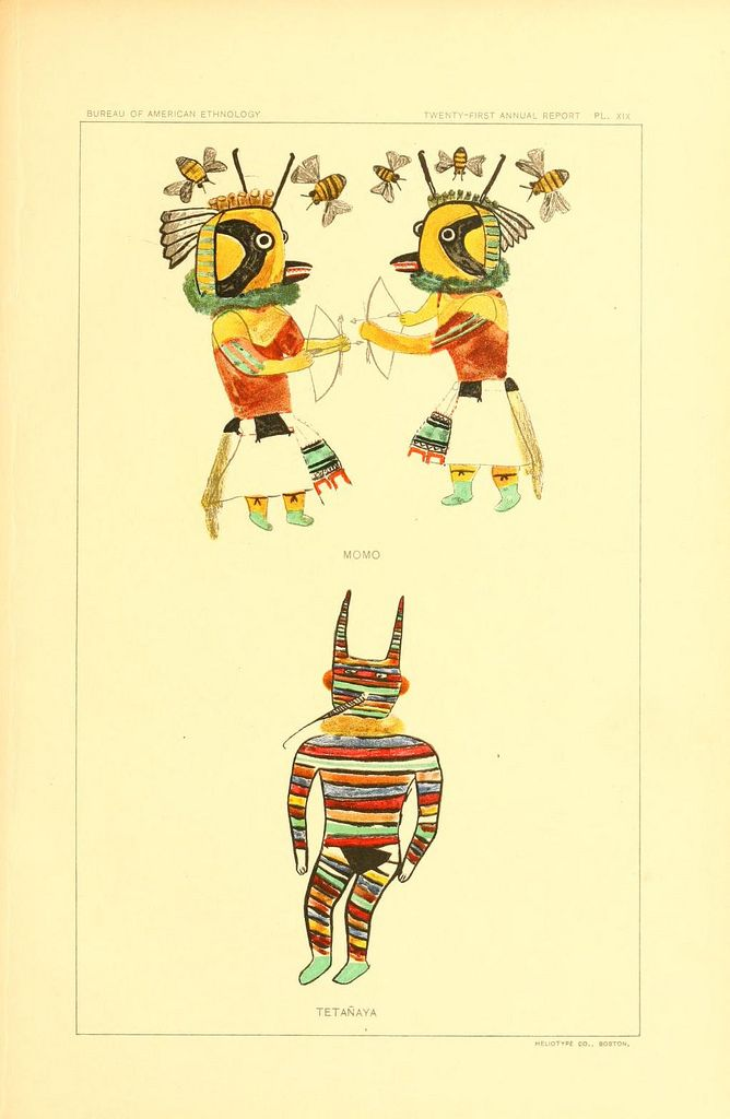 Anthropological Drawings from 1903 of Kachinas from the Hopi Culture | Doodlers Anonymous