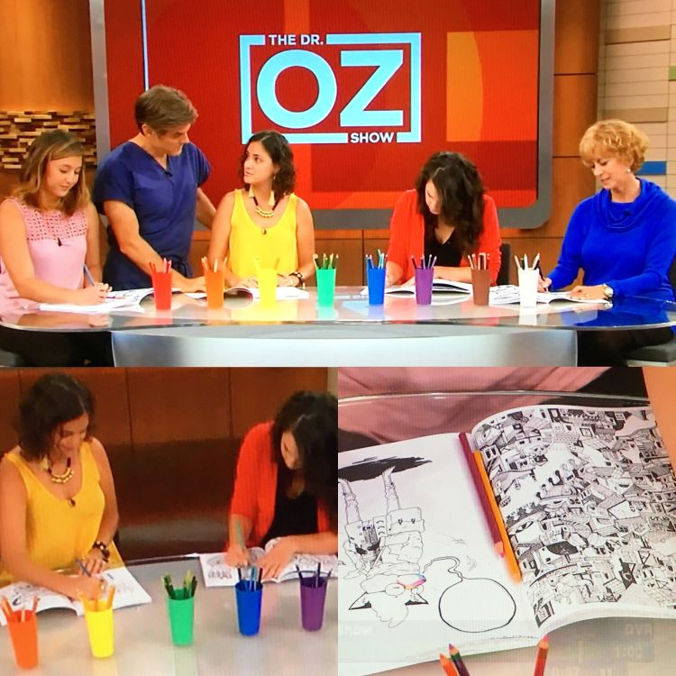 NEWS: Our Epic Coloring Book was featured on the Dr OZ Show | Doodlers Anonymous