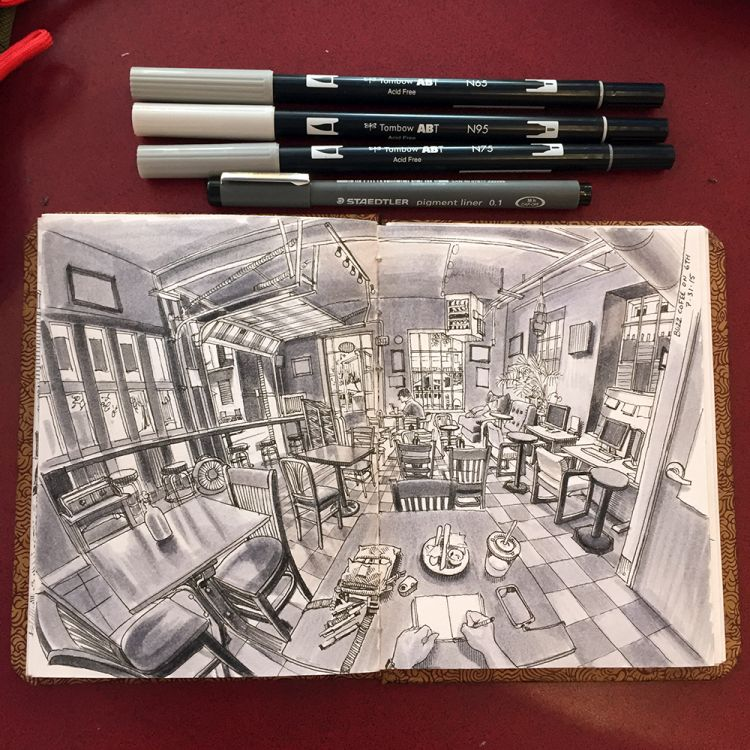Seeing Through a Doodler's Eyes with POV Sketches | Doodlers Anonymous