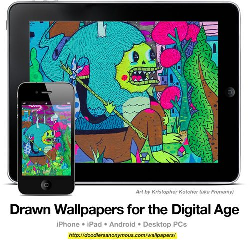 Drawn Wallpapers for the Digital Age: Art by Kristopher Kotcher, #10 | Doodlers Anonymous