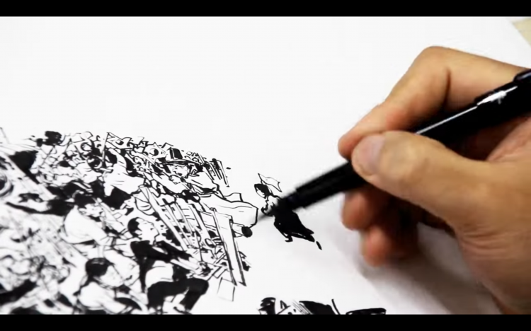 Killer Drawing Video by Kim Jung Gi | Doodlers Anonymous