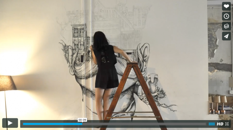 Feast Your Eyes on the Making of a Mural | Doodlers Anonymous