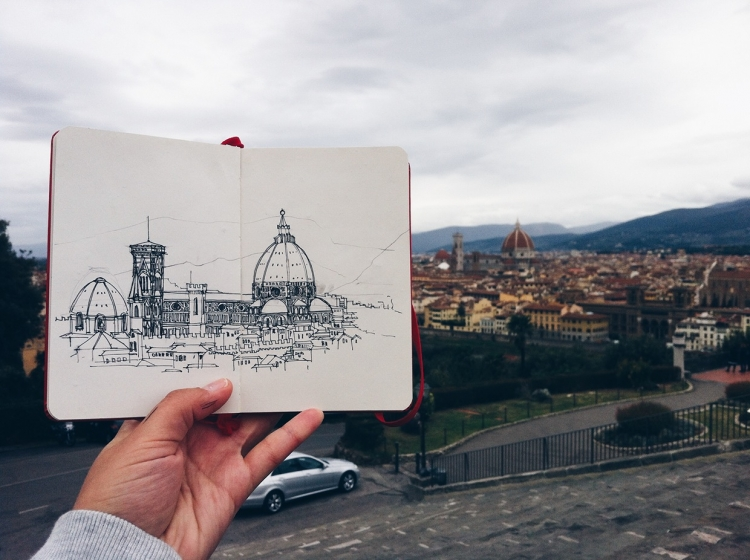 Architectural Adventures in a Sketchbook | Doodlers Anonymous