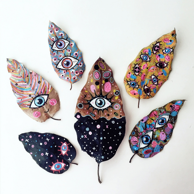Awesome Paintings on Fallen Leaves | Doodlers Anonymous