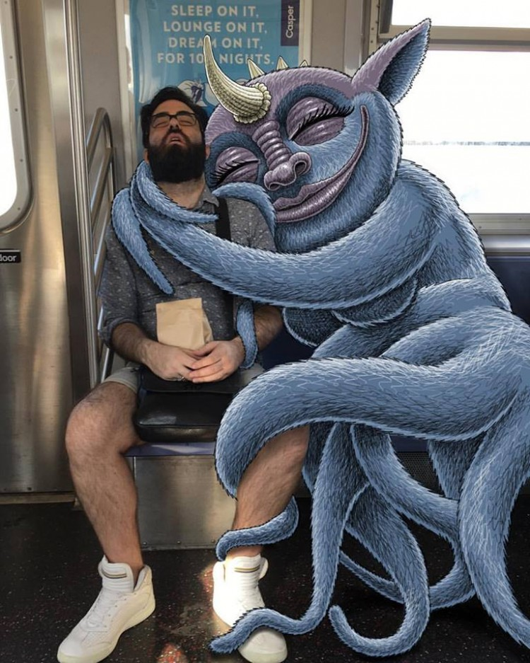Monsters Take Over New York City Subway | Doodlers Anonymous