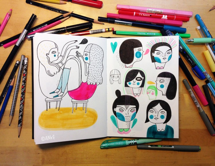 Sketchbook Time Lapse Shows All | Doodlers Anonymous