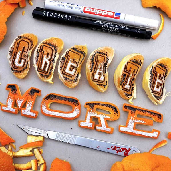 Hand Lettering On Strange Objects | Doodlers Anonymous
