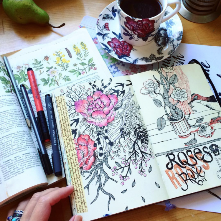 Floral Frenzy | Doodlers Anonymous