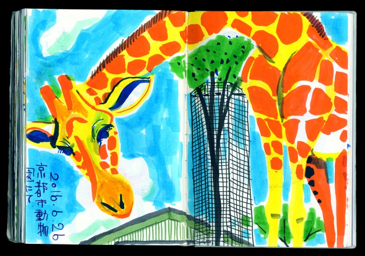 Colorful Sketching at the Zoo | Doodlers Anonymous