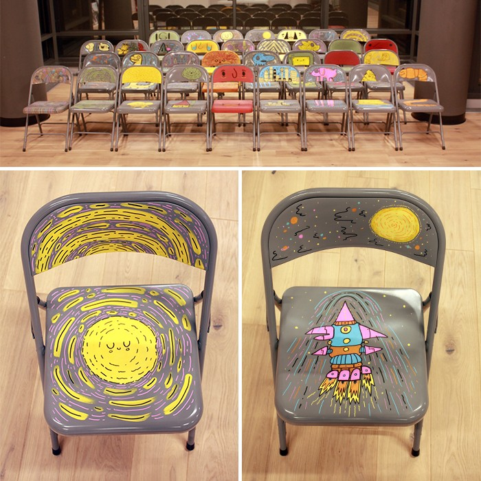 LOOK: 33 Doodled Chairs by Murray Somerville | Doodlers Anonymous