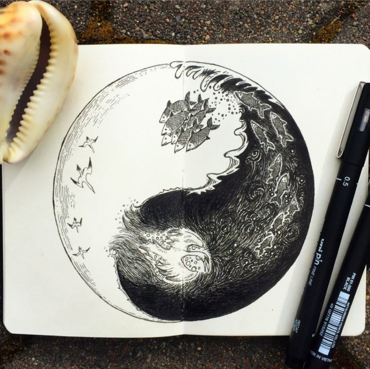 Doodling Yin & Yang with Kimmo Oja | Doodlers Anonymous