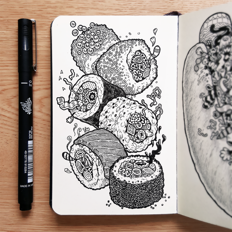 Doodlelicious Dishes That Your Right Brain Will Devour | Doodlers Anonymous