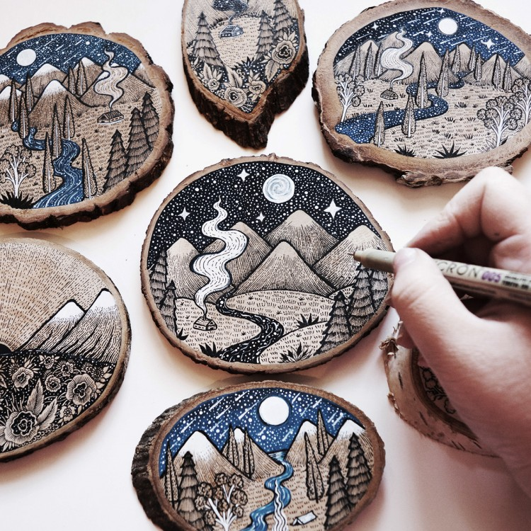 Dreamlike Wood Cut Illustrations | Doodlers Anonymous