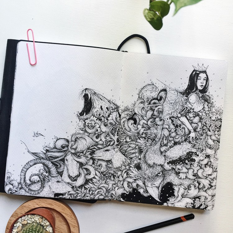 Nature Friendly Black and White Beauties | Doodlers Anonymous