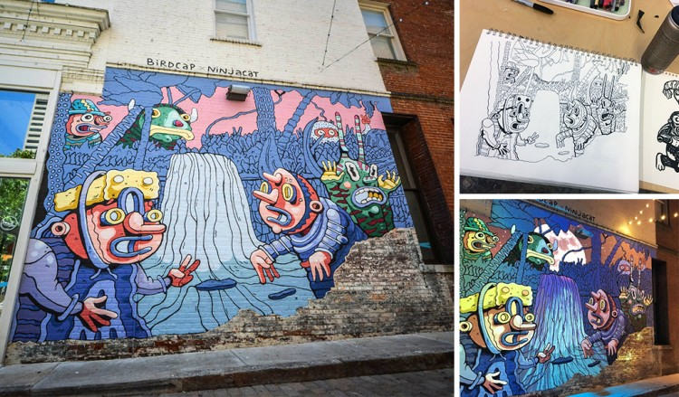 Birdcap: A Closer Look At The Creative Process Of A Traveling Muralist | Doodlers Anonymous