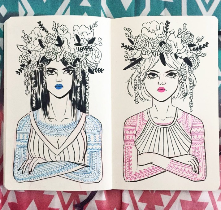 Badass Women Wearing Blossoming Crowns