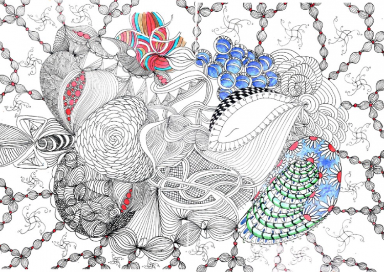 Member Spotlight: Faith Puleston's Intricate Doodled Masses | Doodlers Anonymous