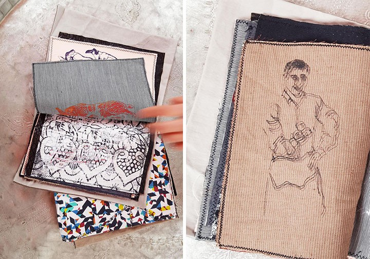 Say Goodbye to Paper and Say Hello to a Sketchbook Made With Fabric | Doodlers Anonymous
