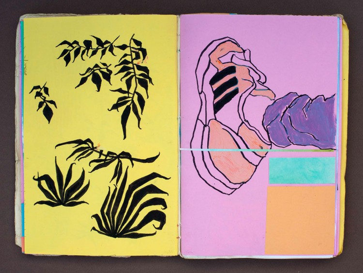 A Sketchbook That Combines Collage & Illustration | Doodlers Anonymous
