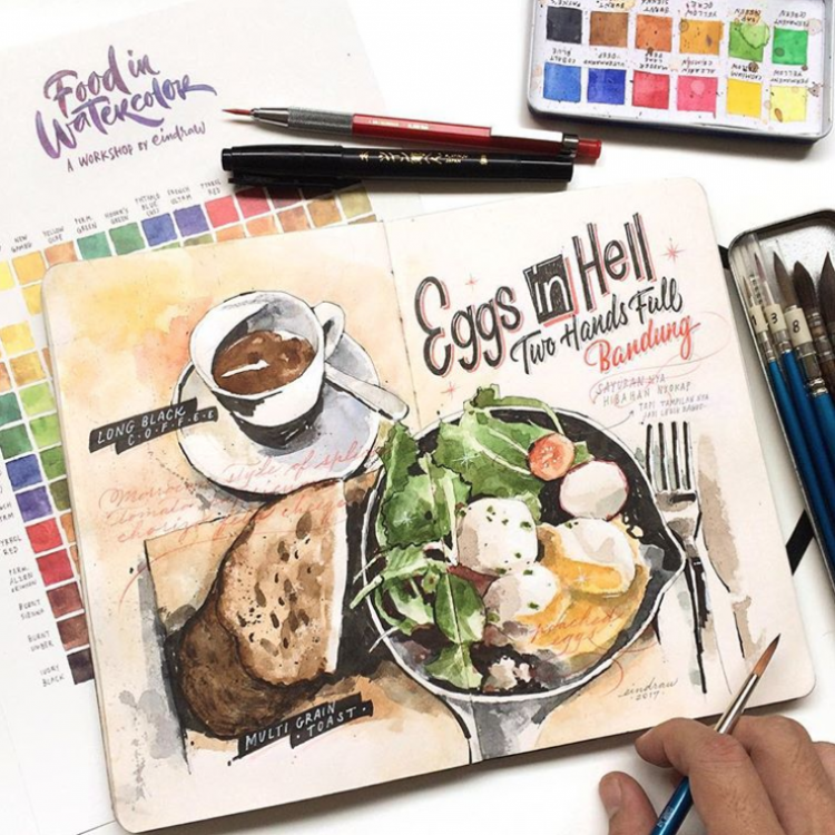 Foodles and Hand-Lettering: A Recipe For Brilliance | Doodlers Anonymous
