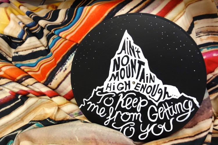 Doodled Lyrics on Refurbished Vinyl Records | Doodlers Anonymous